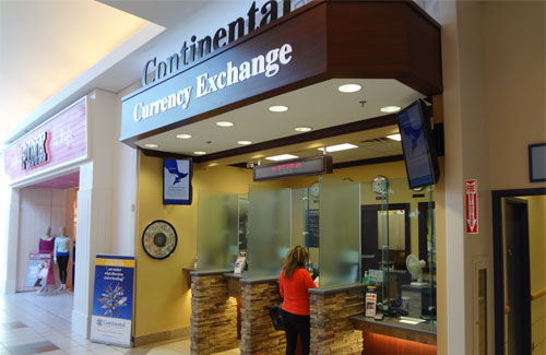D G Biddle Ociates Provided Design And Construction Administration For The Tenant Fit Out Of Continental Currency Exchange At Oshawa Center